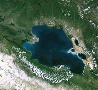 卫星拍摄到的青海湖