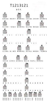 吉他简单速成乐谱