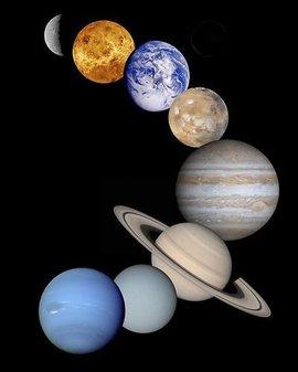 太阳系的八大行星图片