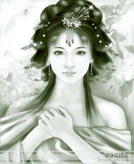 古代公主大气手绘