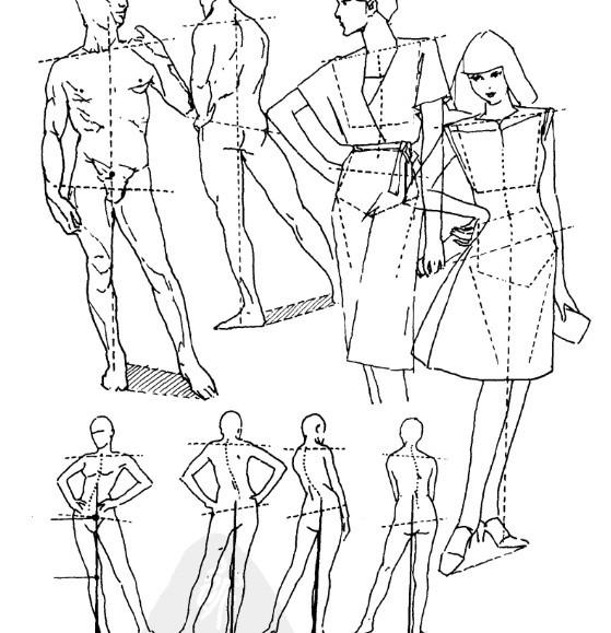 服装人体素描