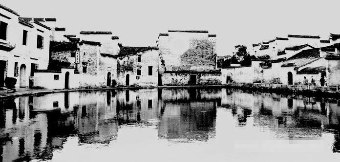 皖南建筑手绘图