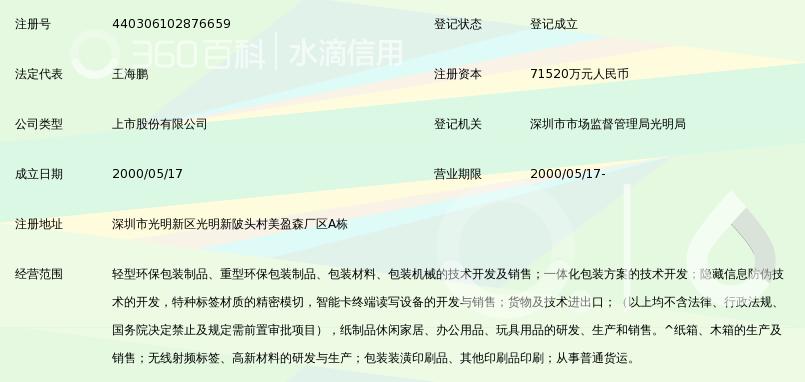 深圳市美盈森环保科技股份有限公司图片
