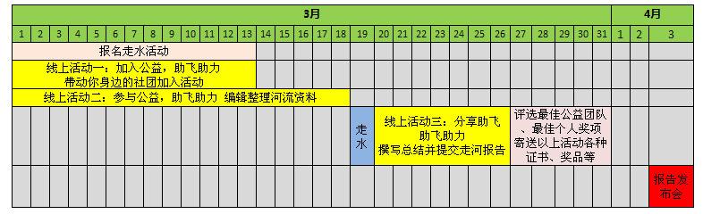 参与活动时间表