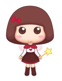 一个蘑菇头女孩,她有些善变,爱干净(但不代表爱打扫和整理……)爱笑图片