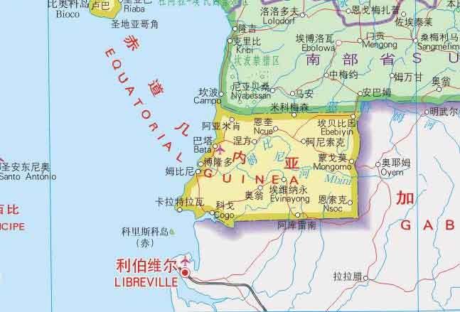 赤道岛屿地形图