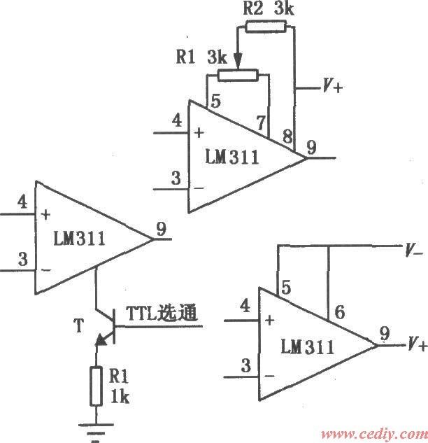 电压比较器是集成运放非线性应用电路