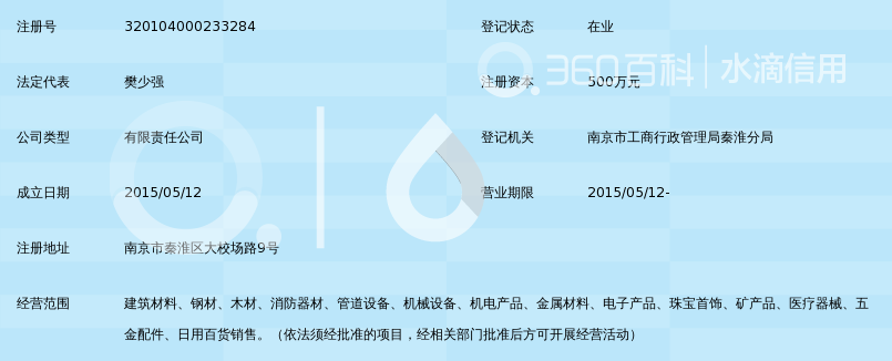 南京铭之辉建材贸易有限公司_360百科