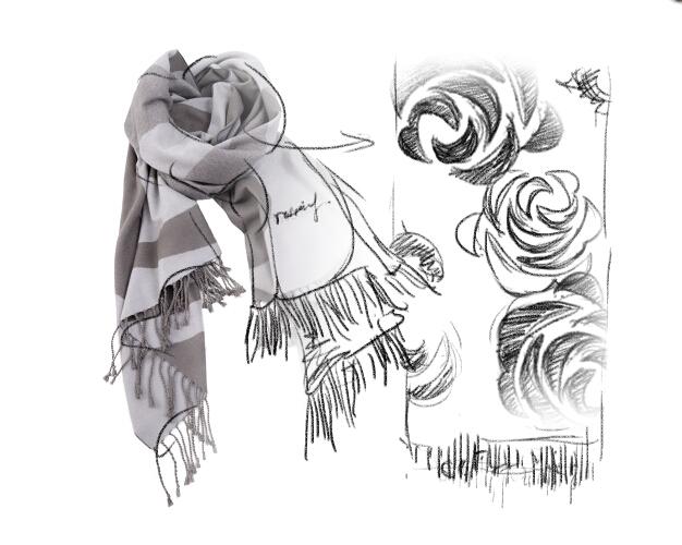 喜羊羊带围巾简笔画步骤图