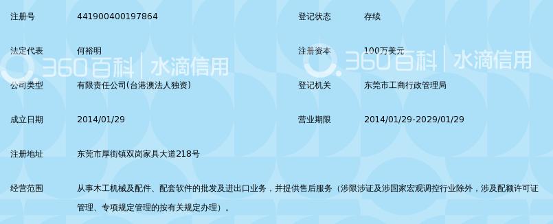 东莞金田明丰木工机械贸易有限公司_360百科