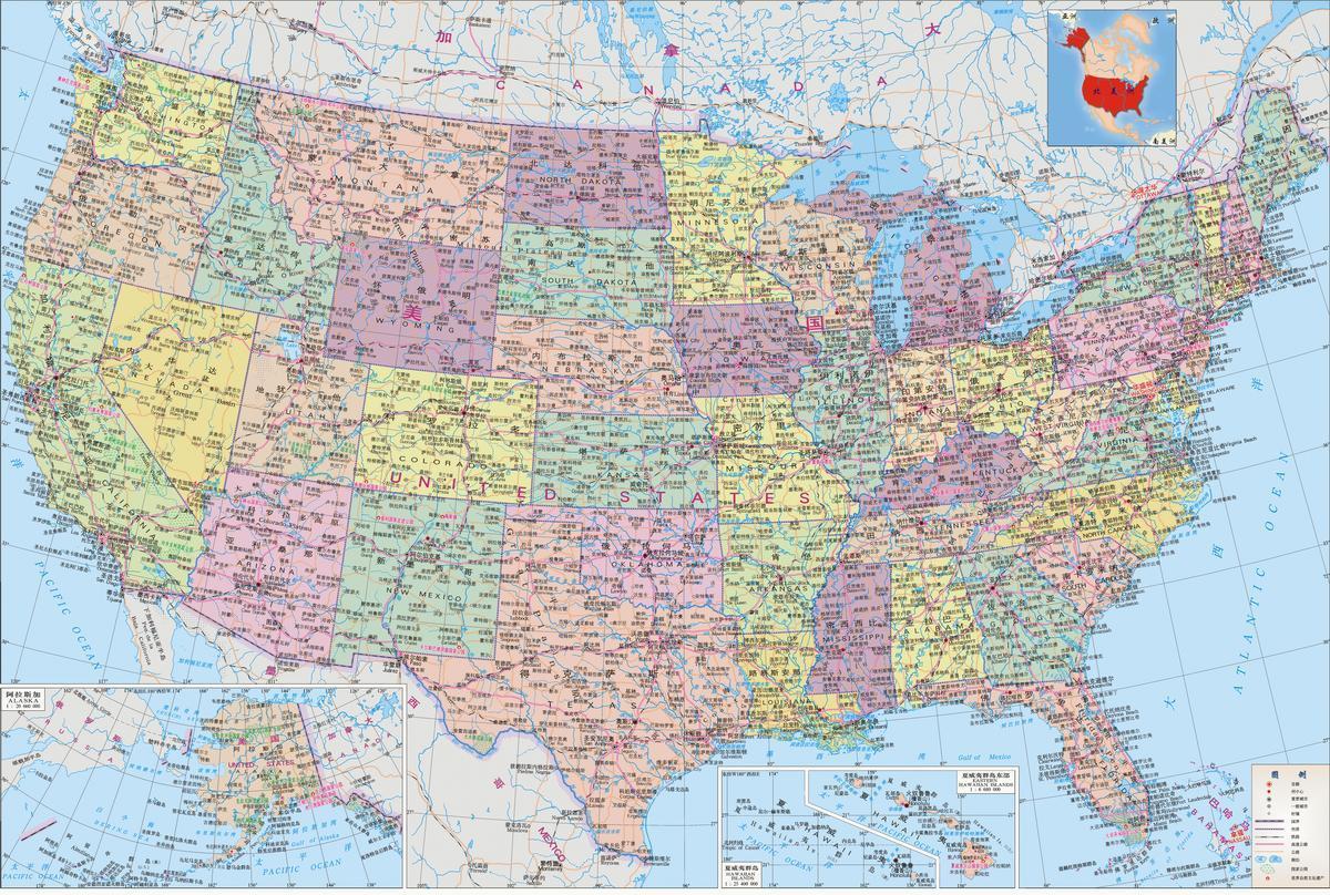 (图)美国地图