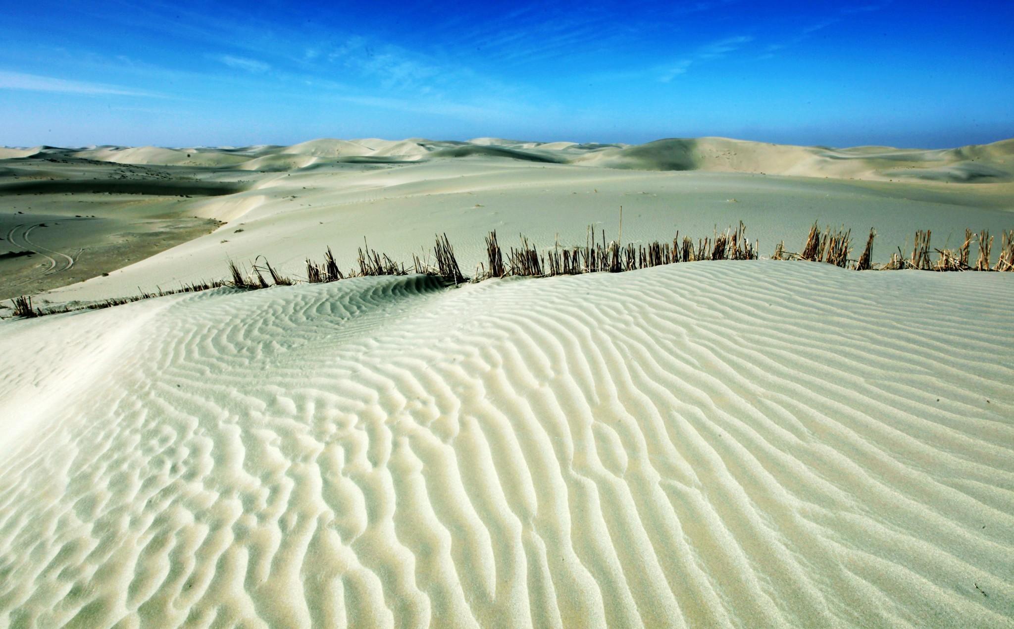 南疆的塔里木盆地中心