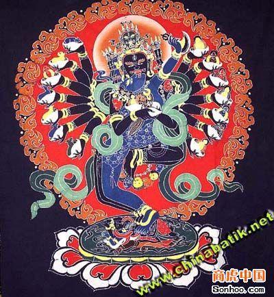 传统贵州蜡染纹样分为自然纹和几何形纹两人类